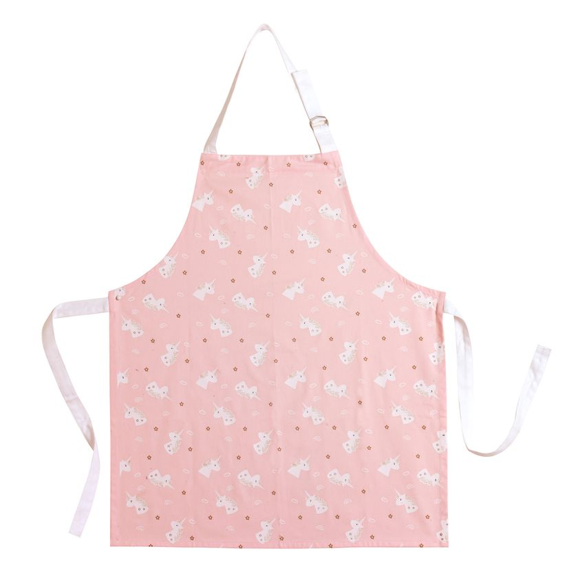 Tablier enfant licorne rose 55x65 cm