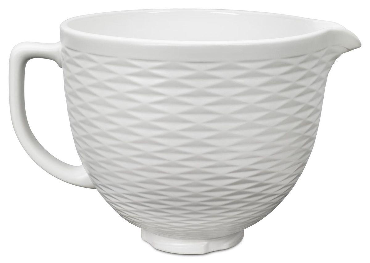 Accessoire : Bol en céramique gaufré 4.7l blanc 5ksm2cb5tlw - Kitchenaid