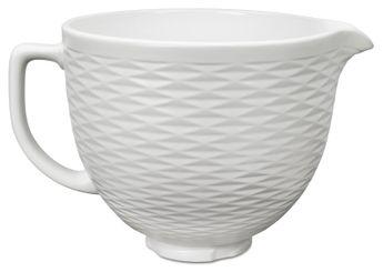 Achat en ligne Accessoire : Bol en céramique gaufré 4.7l blanc 5KSM2CB5TLW - Kitchenaid