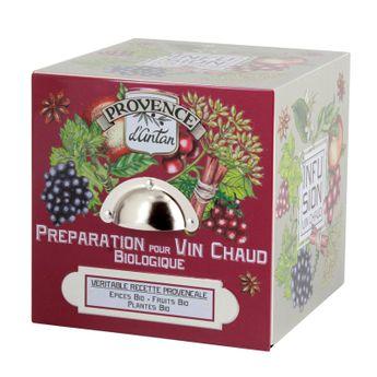 CUBE METAL PREPARATION POUR VIN CHAUD 24 SACHETS BIO* 48G - PROVENCE D'ANTAN