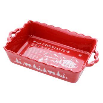 Achat en ligne Plat à four tartiflette rouge 33cm - Table & Cook