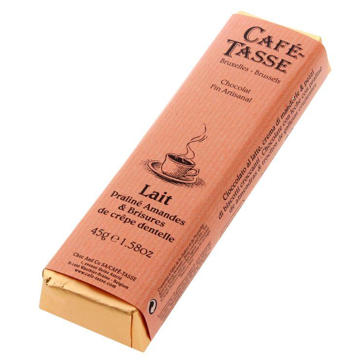Bâton assorti goût lait praliné amandes et brisure de crêpe 45gr - Cafetasse