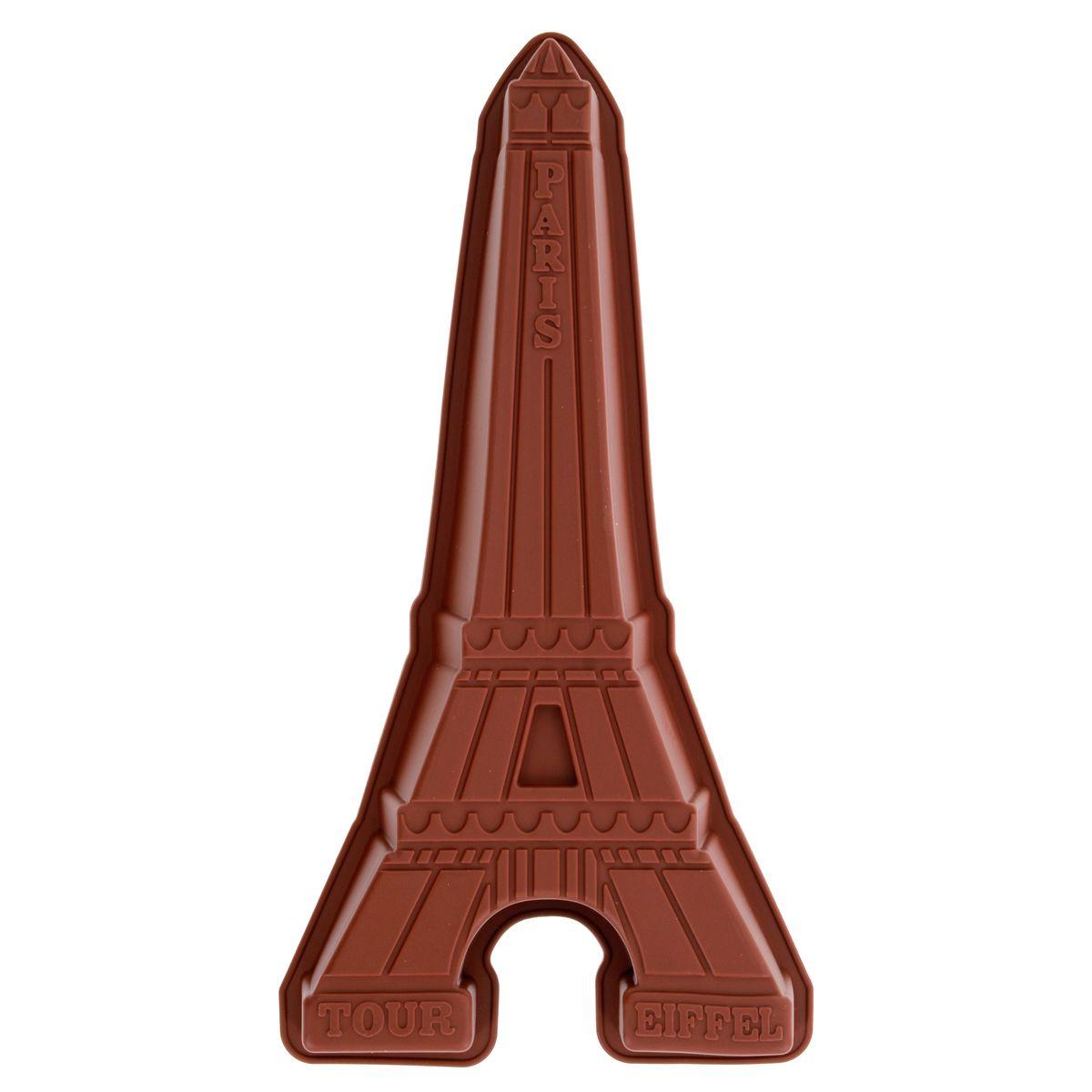 Moule gâteau en silicone marron Tour Eiffel - Le Chef Paris