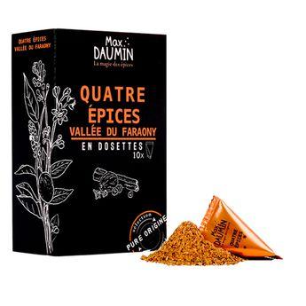Boîte de 10 dosettes individuelles Quatre épices - Max Daumin