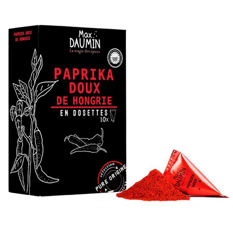 Boîte de 10 dosettes inviduelles Paprika doux de Hongrie - Max Daumin