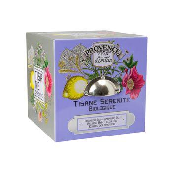 Cube métal tisane sérénité 24 sachets bio* 36g - Provence d´Antan
