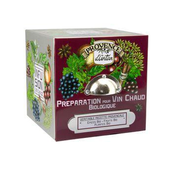 Achat en ligne Cube métal Preparation pour vin chaud Bio 48g - Provence d´Antan