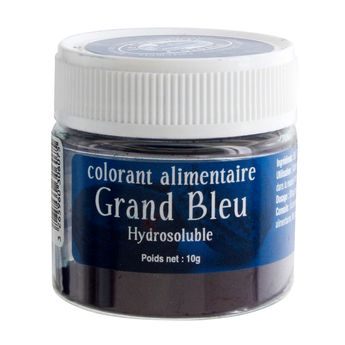 Colorant alimentaire hydrosoluble grand bleu 10 gr - Le Comptoir Colonial