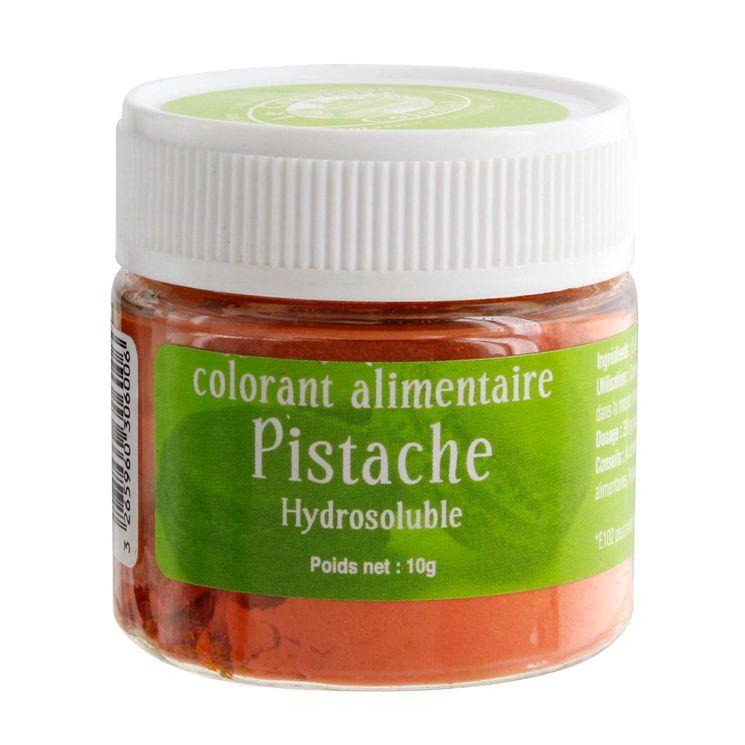 Colorant alimentaire hydrosoluble vert pistache 10 gr - Le Comptoir Colonial