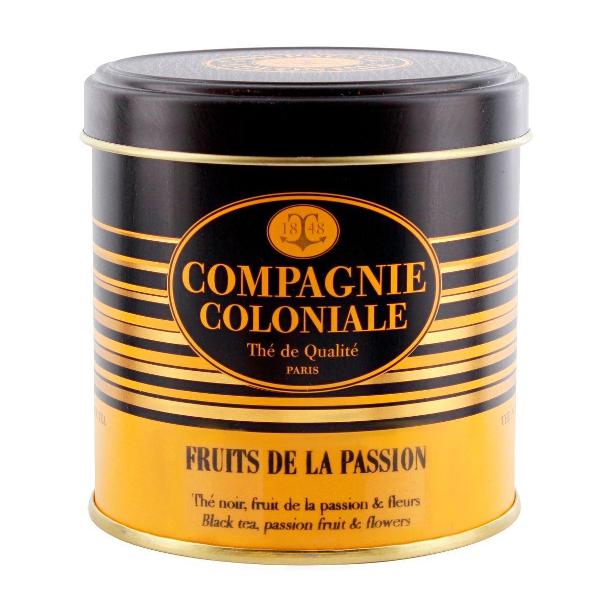 Thé noir aromatisé boîte métal fruits de la passion 120gr - Compagnie Coloniale