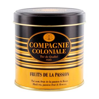 Thé noir aromatisé boîte métal fruits de la passion - Compagnie Coloniale