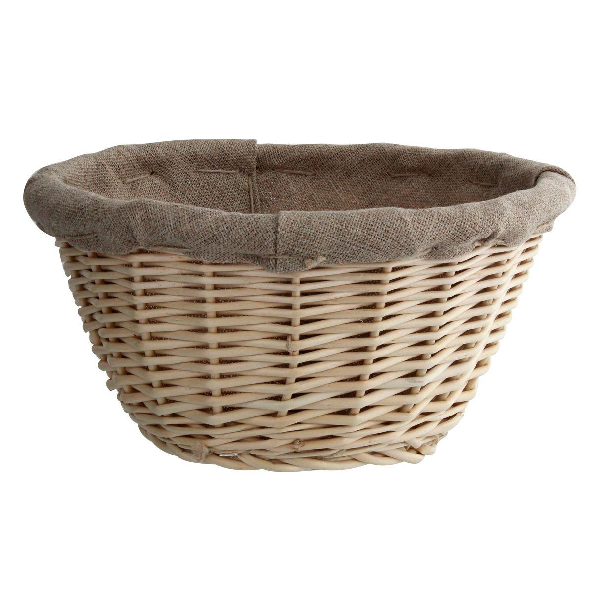 Banneton pour pain rond en osier et toile de lin 21 cm - Matfer