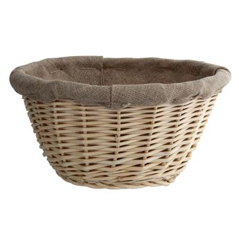 Achat en ligne Banneton pour pain rond en osier et toile de lin 21 cm - Matfer