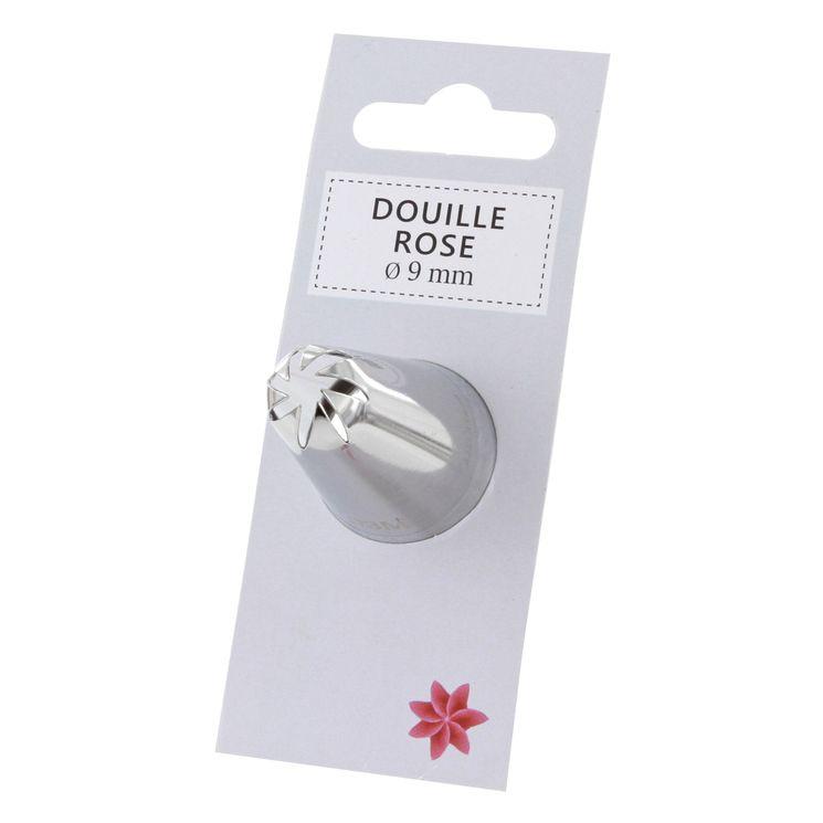 Douille inox rose 9 mm