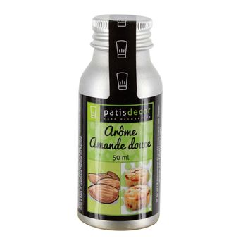 Arôme alimentaire naturel amande douce 50ml - Patisdecor