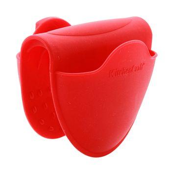 Achat en ligne Pince manique antidérapante en silicone rouge - Kitchen Craft