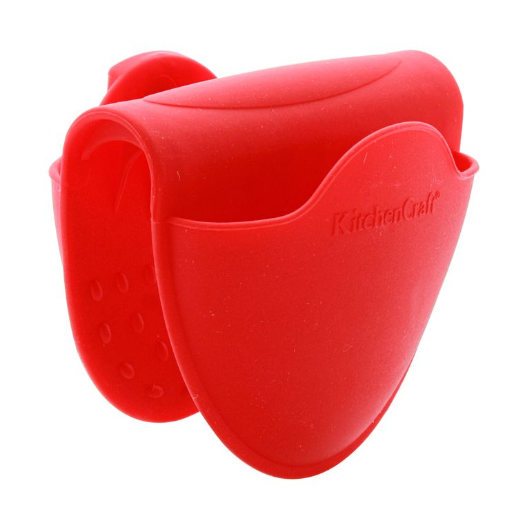 Pince manique antidérapante en silicone rouge - Kitchen Craft