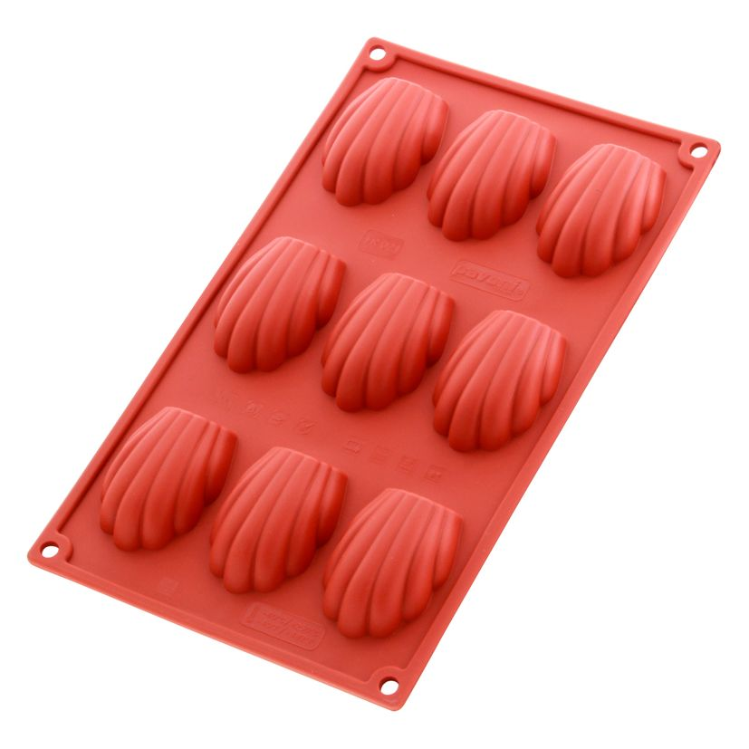Moule silicone 9 madeleines - Pavoni
