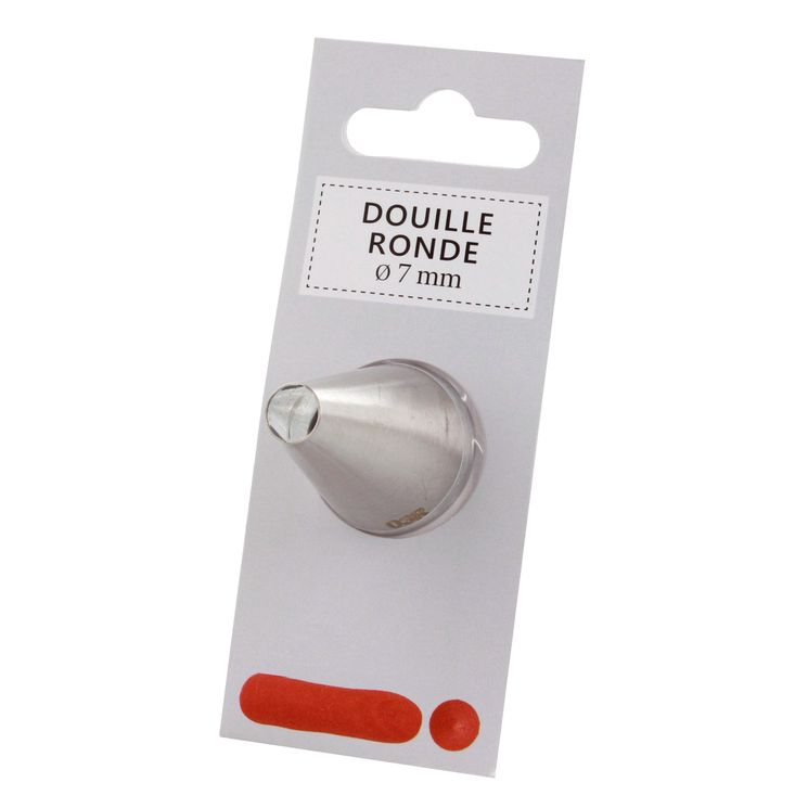 Douille inox ronde 7 mm