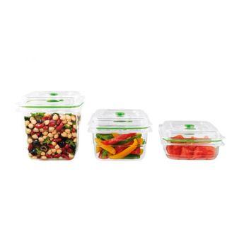 Achat en ligne 3 boîtes fraîcheur pour machine sous vide 700 ml + 1.2 l + 1.8 l - Foodsaver