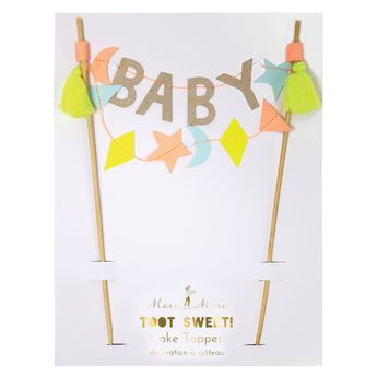 Cake topper baby shower - Meri Meri