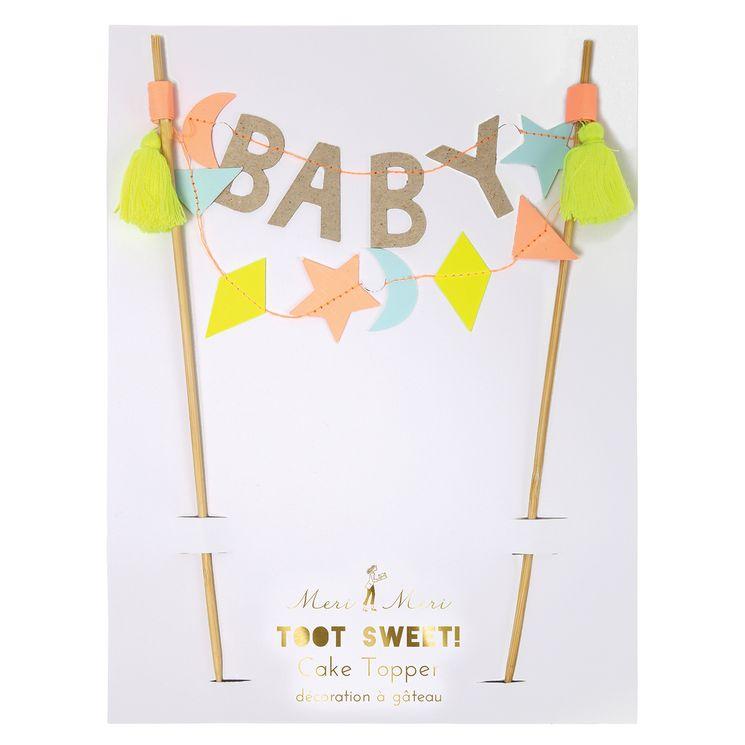 Cake topper baby shower - Meri Meri