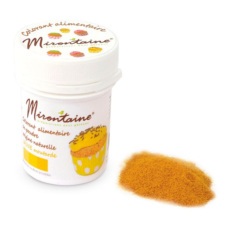 Colorant alimentaire en poudre naturel bio jaune moutarde 10 gr - Mirontaine