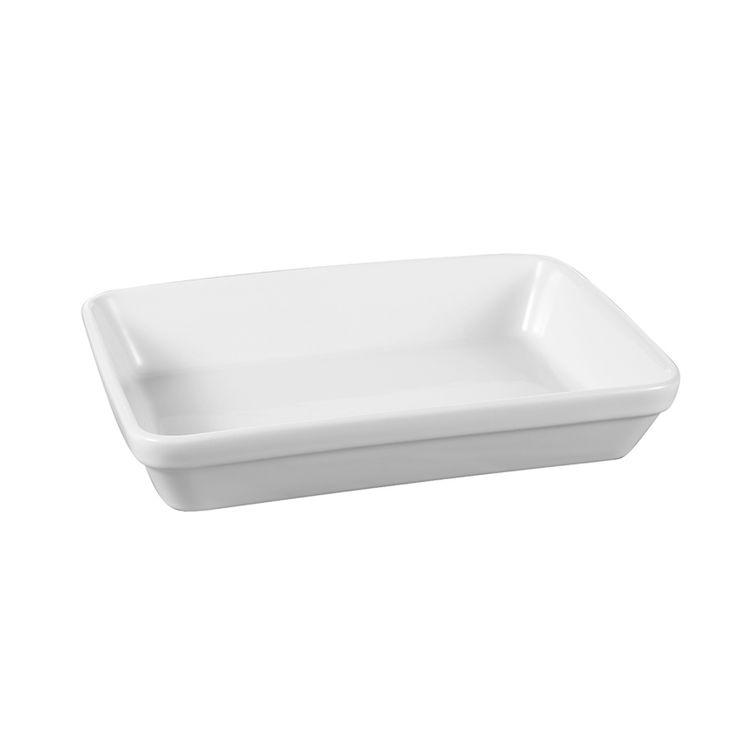 Plat à four 23 x16 empilable en grès blanc - The Kitchenette