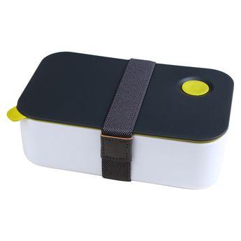 Lunch box bento gris et blanc couvercle vert 1l - Alice Délice