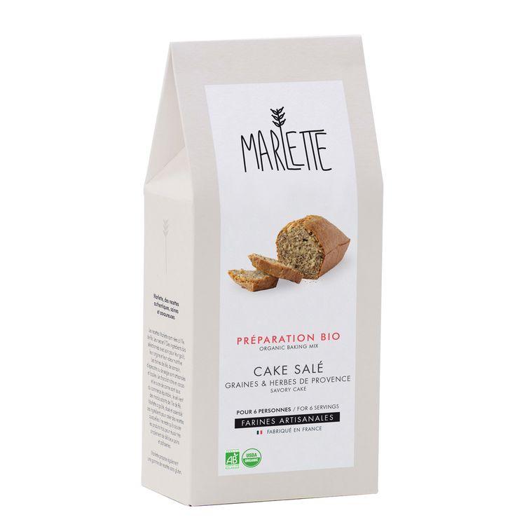 Préparation bio pour cake salé aux graines et herbes de Provence 280gr - Marlette