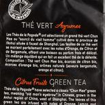 Thé vert bio agrumes 100gr - Thés de la Pagode