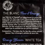 Thé blanc bio fleur d´oranger 100gr - Thés de la Pagode