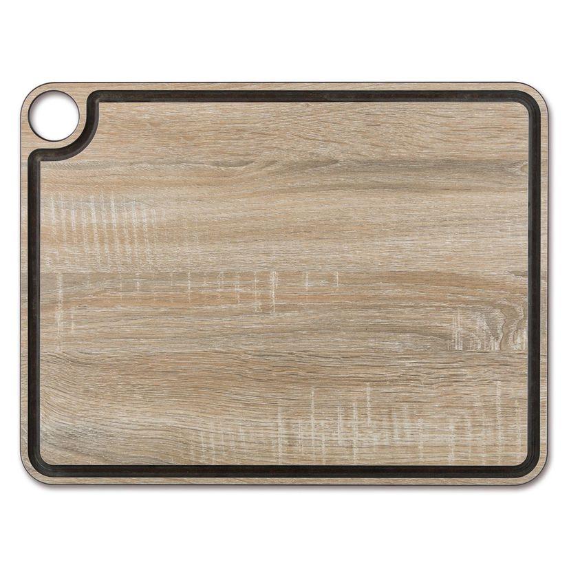 Planche à découper effet bois en papier compressé avec rigole 42.7 x 32.7 cm - Arcos