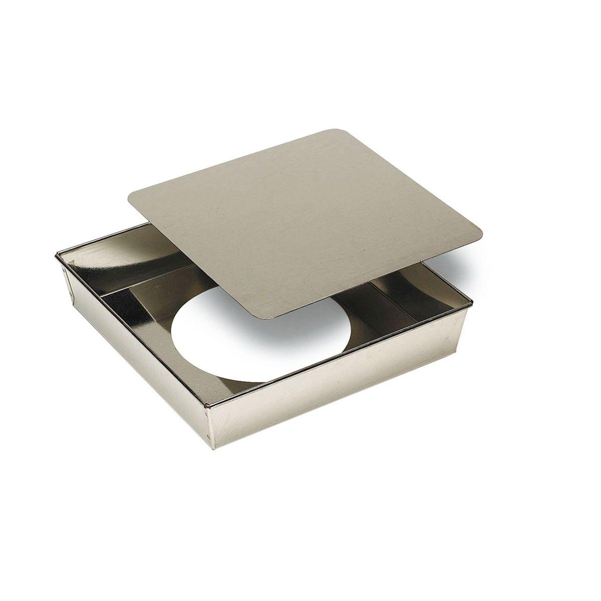 Moule carré à fond amovible en fer blanc 5 x 22 cm - Gobel