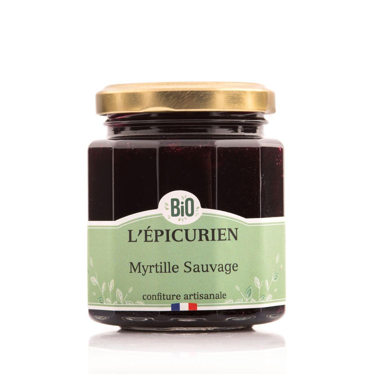 Confiture myrtille sauvage bio 210 g - L´Epicurien