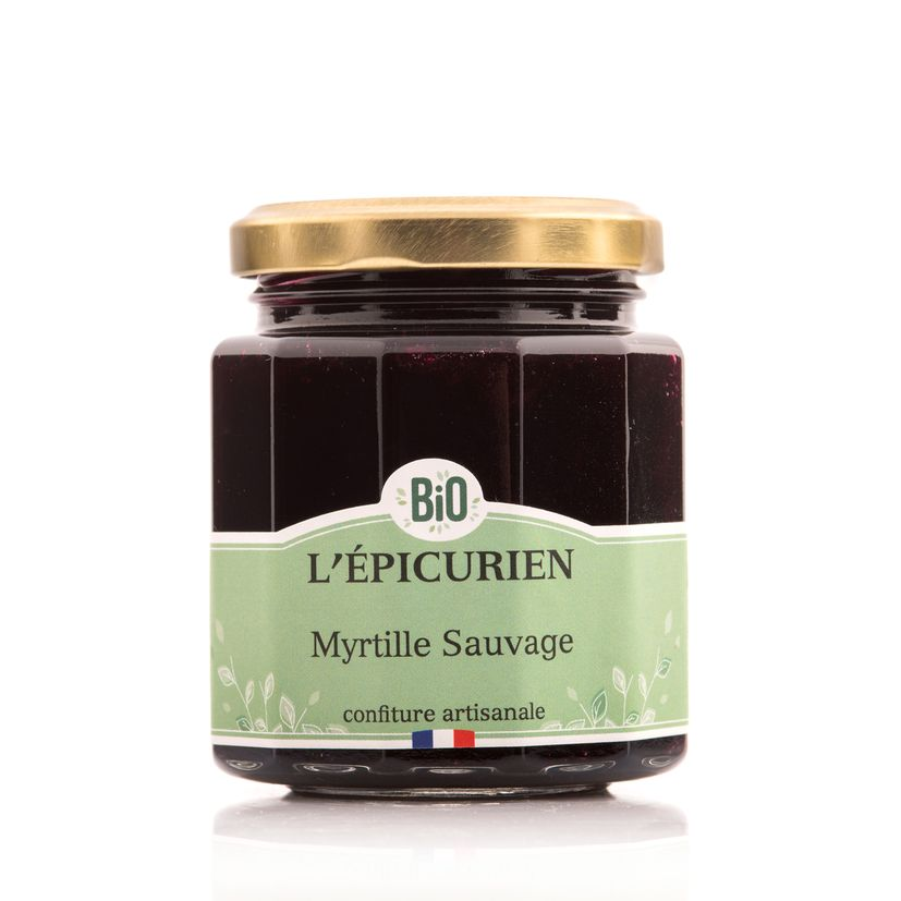 Confiture myrtille sauvage bio - L´Epicurien