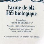 Farine t65 bio 1.5kg - Trésors de Chefs