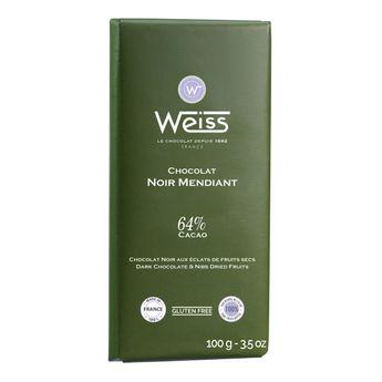 Tablette mendiant 64% 100gr - Weiss