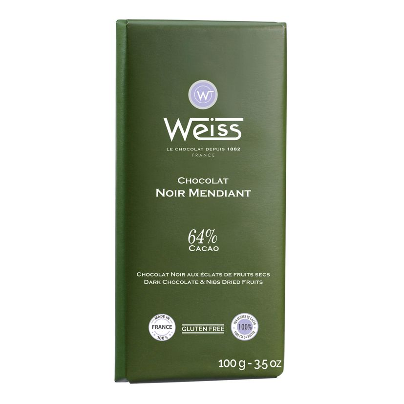 Tablette 100g mendiant 64% - Weiss