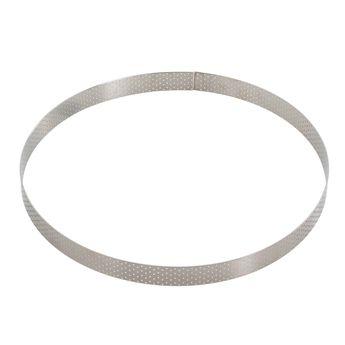 Achat en ligne Cercle à tarte en inox perforé 20.5 x 2 cm - De Buyer