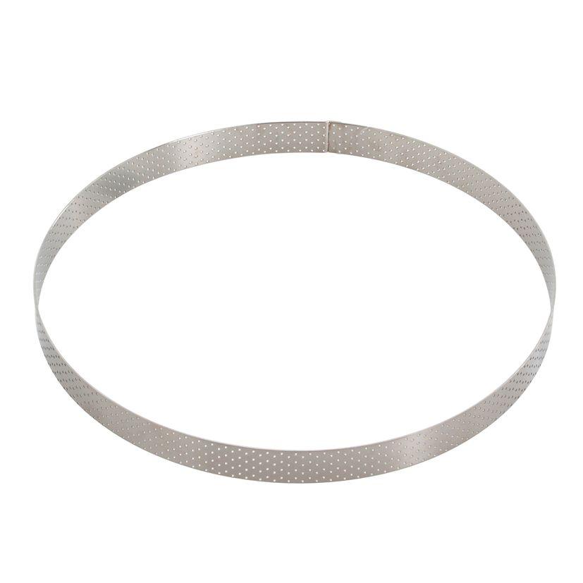 Cercle à tarte en inox perforé 20.5 x 2 cm - De Buyer