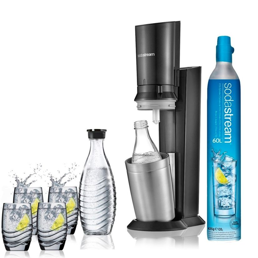 Machine Crystal noire pack verre - Sodastream