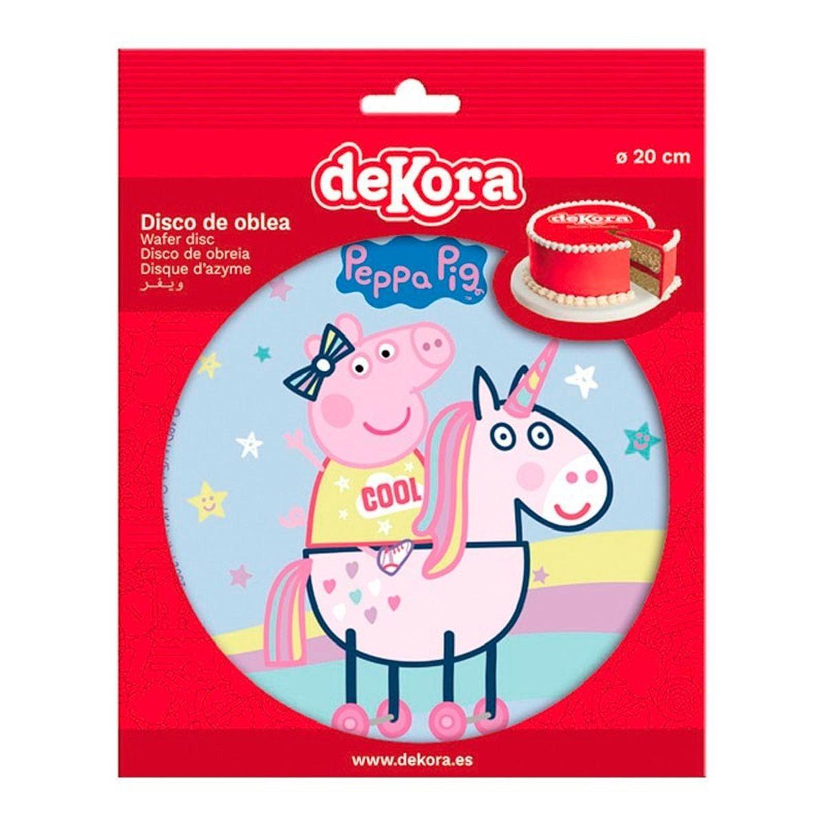 Disque en azyme Peppa Pig 20 cm - Dekora
