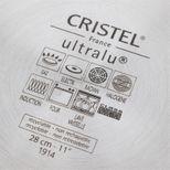 Poêle Castel pro fixe ultralu 28 cm - Cristel