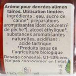 Arôme alimentaire bio pêche 58 ml - Trésors de Chefs
