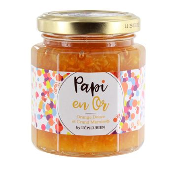 Confiture papi en or 210 g (orange et grand marnier) - L´Epicurien
