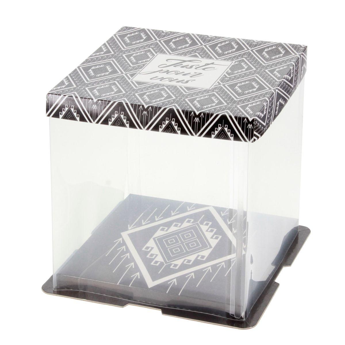 Boîte à gâteaux vitrine 21 x 21 x 22 cm - Patisdecor