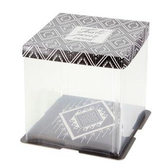 Achat en ligne Boite à gâteaux vitrine 21 x 21 x 22 cm - Patisdecor