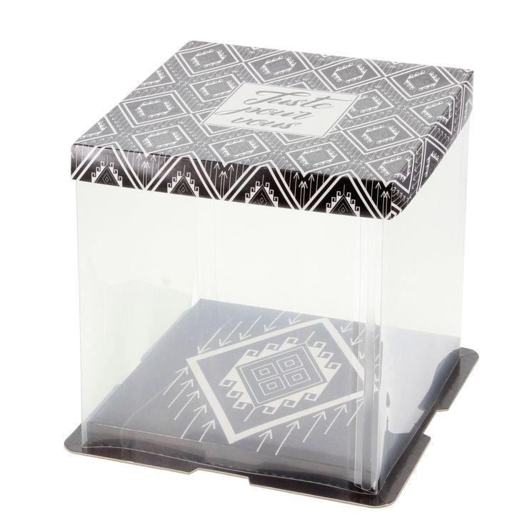 Boite de transport gatobox avec vitrine 21 x 21 x 22 cm - Patisdecor