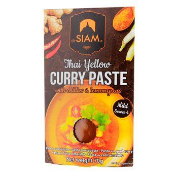 Achat en ligne Pâte de curry jaune 70gr - De Siam
